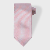 Paul Smith Men's Red And Mauve Thin-Stripe Silk Tie