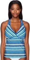 Jantzen Women's Tie Dye Geo Stripe D/Dd Tankini Top