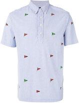 Polo Ralph Lauren embroidered flags polo shirt - men - Cotton - M