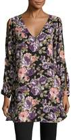 Lucca Couture Women's Cut Out Print Shift Tunic
