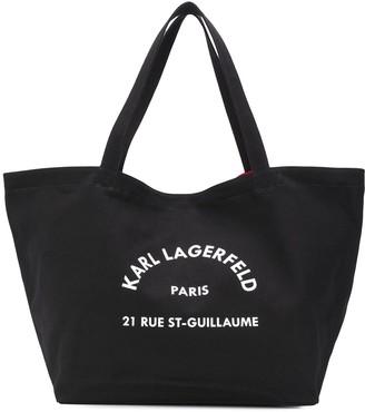 Karl Lagerfeld Paris K/Rue St Guillaume canvas tote bag