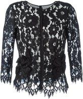 Marc Jacobs floral lace blouse - women - Silk/Cotton/Nylon/Rayon - 4