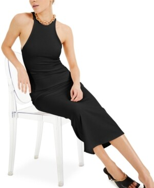 INC International Concepts Culpos X Inc Ribbed Halter Dress, Created for Macy's