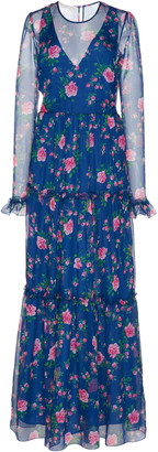 Philosophy di Lorenzo Serafini Floral-Patterned Chiffon Maxi Dress