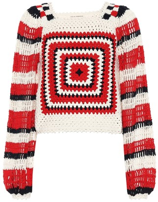 Ulla Johnson Beso cotton crochet sweater