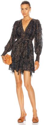 Ulla Johnson Natalia Dress in Midnight Python | FWRD