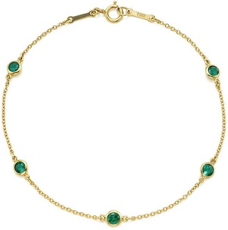 Tiffany & Co. Elsa Peretti Color by the Yard bracelet in 18k gold with emeralds