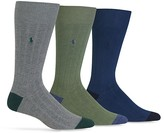 Polo Ralph Lauren Soft Touch Rib Knit Trouser Socks - Pack of 3
