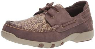 Roper Women's Lacee Tooled Moccasin Brown 10.5 D US