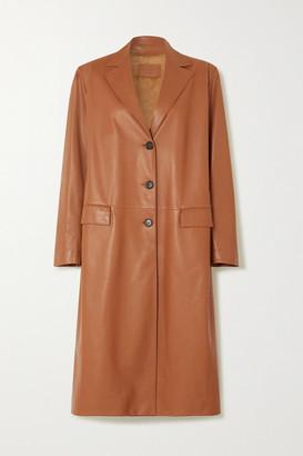 Prada Leather Coat - Beige