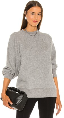 Marissa Webb So Uptight Drop Raglan French Terry Sweatshirt