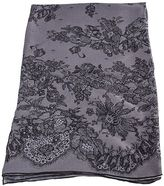 Valentino Grey Printed Lace Silk Stole