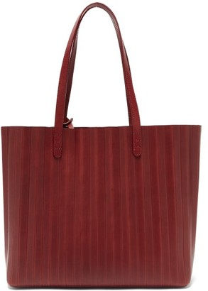 Mansur Gavriel Pleated Leather Tote Bag - Womens - Burgundy