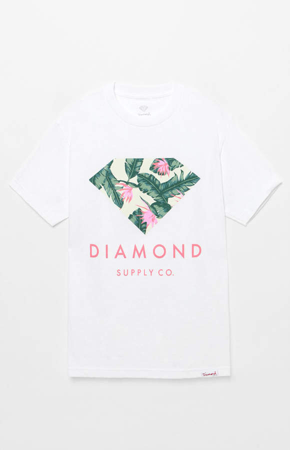 Diamond Supply Co Leaf Stone Cut T-Shirt