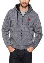 U.S. Polo Assn. Mens Big and Tall Fully Sherpa Lined Fleece Hoodie