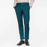 Paul Smith Men's Mid-Fit Dark Green Wool-Mohair Trousers