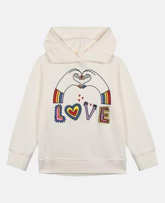 Stella McCartney love hands cotton hoodie