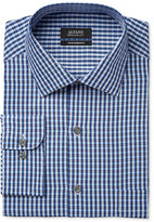 Alfani Men's Classic-Fit Performance Blue Twill Check Dress Shirt, Only at Macy's