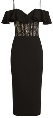 Rasario Off-The-Shoulder Lace Corset Dress
