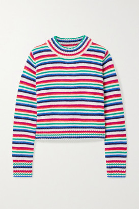 La Ligne Mini Marin Striped Wool And Cashmere-blend Sweater - Blue