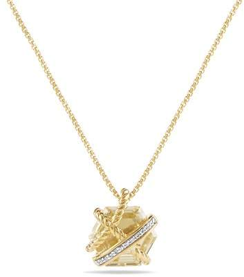 David Yurman Cable Wrap Necklace with Champagne Citrine & Diamonds in 18K Gold