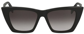 Alexander McQueen Rectangular glasses with thick temples
