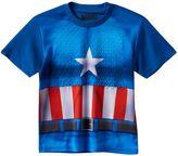 Boys 4-7 Marvel Captain America Textured Muscle Tee