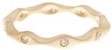 Gold Wavy Ring with Swarovski® Crystals