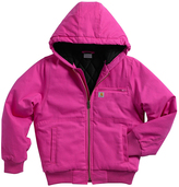 Carhartt Raspberry Rose Quilted Fleece-Lined Jacket - Girls