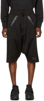 Y-3 Black Three-Stripes Shorts