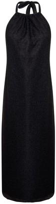 Cocoove Lullah Halter Dress In Black Shimmer