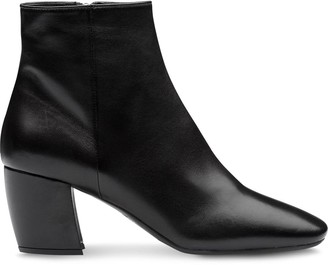 Prada nappa leather ankle boots