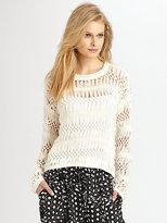 Yigal Azrouel Cut25 by Open-Knit Macrame Sweater