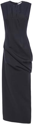 Chalayan Draped Paneled Wool-blend Midi Dress