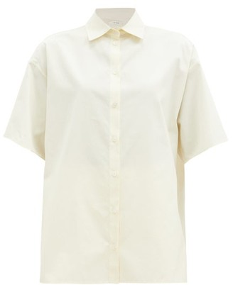 The Row Sissa Oversized Poplin Short-sleeved Shirt - Cream