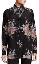 No.21 NO. 21 Floral Printed Silk Top