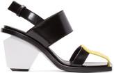 Marni Tricolor Leather Colorblock Heels