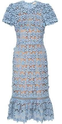 MICHAEL Michael Kors Floral-appliqued Cotton-crochet Dress