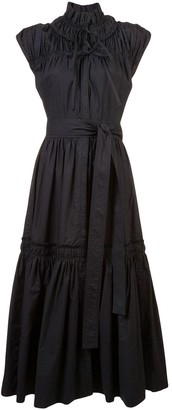 Proenza Schouler Gathered Tiered Dress