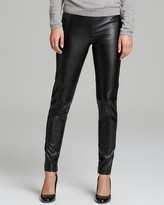 Vince Camuto Seamed Knee Faux Leather Leggings