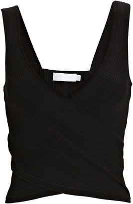 Jonathan Simkhai Crossover Rib Knit Tank Top