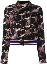 Giamba cropped jacquard jacket - women - Cotton/Polyamide/Polyester/Spandex/Elastane - 40