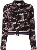 Giamba cropped jacquard jacket