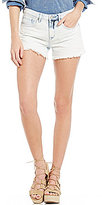 William Rast Destructed Frayed Hem Cutoff Denim Shorts