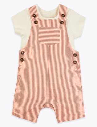 Marks and Spencer 2 Piece Cotton Striped Outfit (0-3 Yrs)