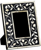 Mela Artisans 4x6 Imperial Beauty Frame - Bone/Black