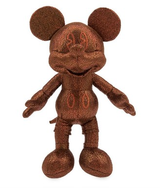 Disney Mickey Mouse Bronze Plush Small 10''