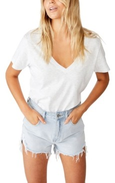Cotton On The One Fitted V-Neckline T-Shirt