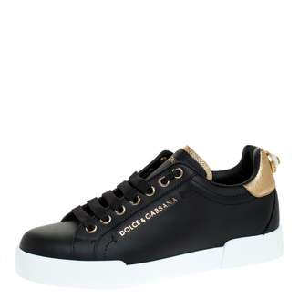 Dolce & Gabbana \N Black Leather Trainers