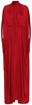 Valentino high-neck gown